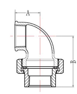 BSP Union Elbows Flat Seat Fig.95