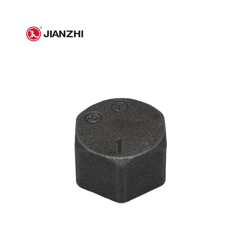 Black Malleable Iron Hexagon Cap Fig.300